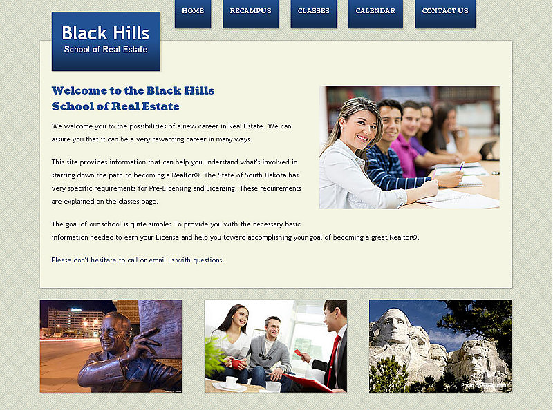 Black Hills School of Real Estate Website