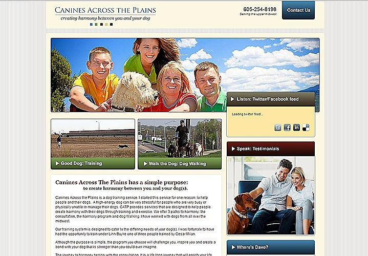 Canines Across The Plains Website