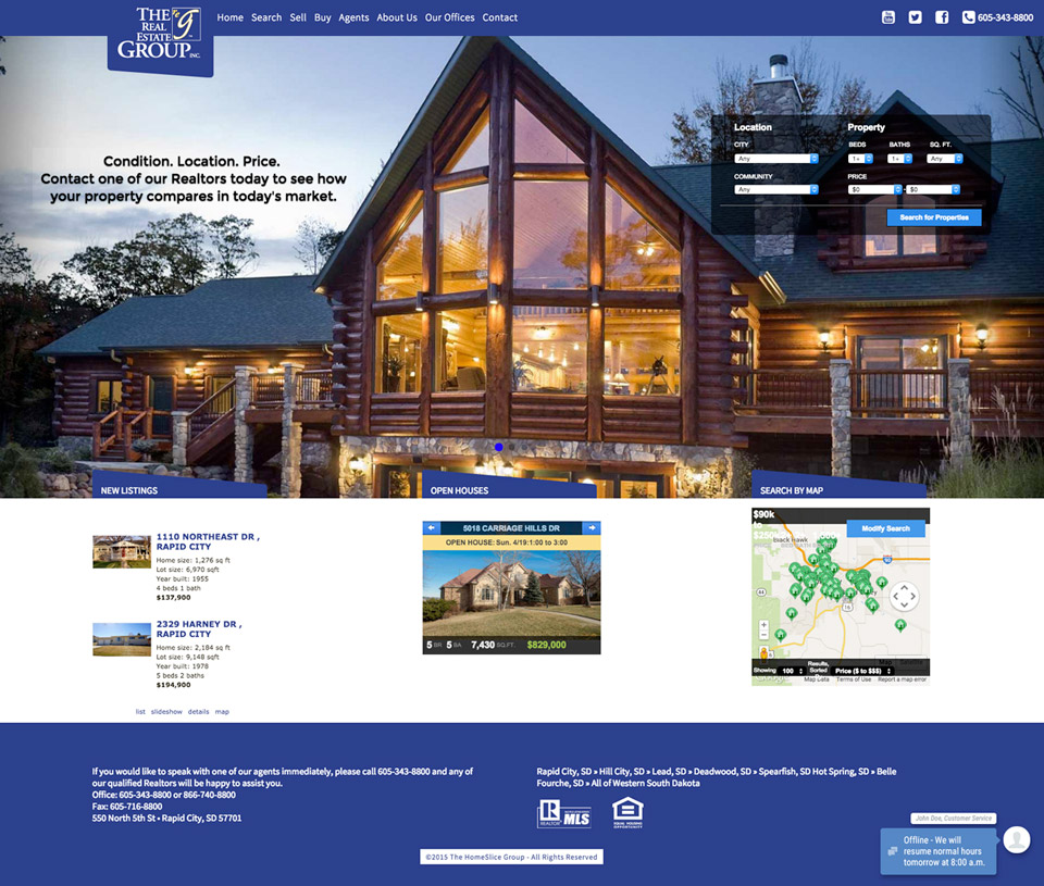 The Real Estate Group Website