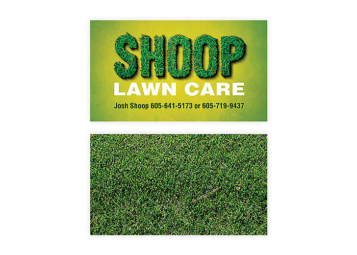 Shoop Lawn Care Business Card