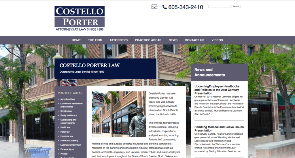 Costello Porter Website