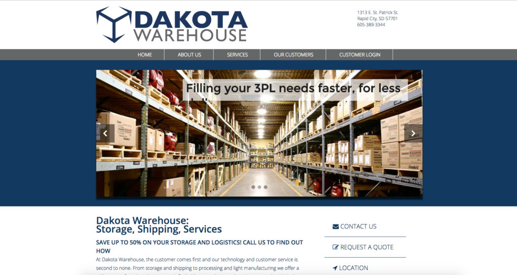 Dakota Warehouse Website