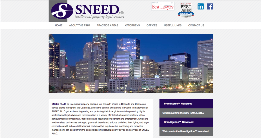 Sneed Legal Website