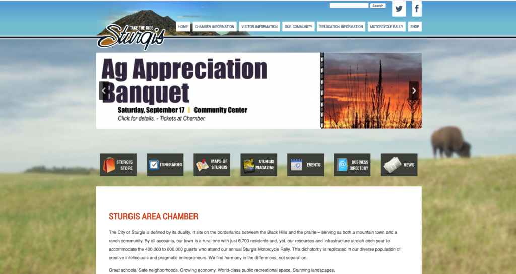 Sturgis Area Chamber Website